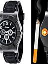 Men\'s Fashion Watch Wrist watch Quartz Lighter Alloy Band Casual Black Brown Brand