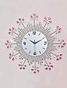 Modern/Contemporan Florale/Botanice / Inspirațional / Desene Animate Ceas de perete,Rotund / Noutate Sticlă / Metalic / Piatră57cm x