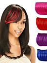 clip capless droite Bang synthetique cheveux morceaux de cote multi-couleurs