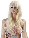 perruques synthetiques ondes longues boucles cheveux synthetiques perruques de couleur blond pour les femmes cosplay perruque de noel