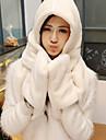 Women Faux Fur Scarf,Cute Rectangle