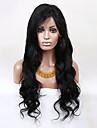 evawigs 22-28 tum obearbetade brasilianskt jungfru människohår vågigt peruk spets front mode naturliga peruker