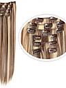 syntetiska löshår # 8/613 blandad färg 22inch 100g klipp i syntetiskt hår extention 7 stycken billig syntetiskt hår