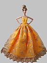 Prinsessa Klänningar För Barbie Doll Orange Klänningar