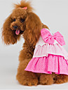 Cat / Dog Dress Pink Dog Clothes Summer / Spring/Fall Vacation / Cake Birthday Lovoyager