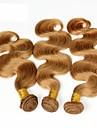 """3st 14-28 """"cinderella hårförlängningar honung blond brasiliansk vågigt jungfruligt remy människohår väv buntar 7a färg 27"""