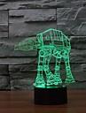 3D LED nattlampa hushåll prydnad star wars