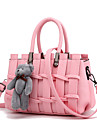 Femme Polyurethane Formel Decontracte Exterieur Bureau & Travail Shopping Sac a Bandouliere Beige Rose Violet Gris Noir