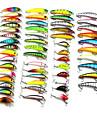 """53 st Lock förpackningar Slumpmässig färg # g/7/16 Uns,# mm/2-1/4"""" 4-1/4"""" 5-1/2"""" 6-1/2"""" tum,Hårt Plast Drag-fiske"""
