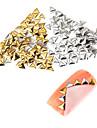 mis en or et en argent triangle poteaux metalliques 5mm 100pcs qualite premium ongles manucure art decorations