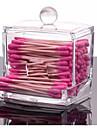 2016 akryl bomullstuss arrangören box sminkförvarings tops makeup förvaringsväska spolar arrangör hotell leveranser