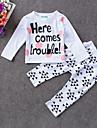 Bebelus Set Îmbrăcăminte Casul/Zilnic Imprimeu Primăvară Vară-Bumbac-