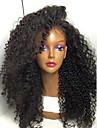högsta kvalitet hög kvalitet hår syntetisk naturlig svart färg kinky lockigt spets front peruk för svarta kvinnor i lager