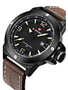 NAVIFORCE Bărbați Ceas Militar Ceas La Modă Ceas de Mână Quartz Quartz Japonez Calendar Rezistent la Apă Piele Bandă Cool Luxos Negru Maro