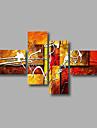 Peint a la main Abstrait Peintures a l\'huile,Modern Quatre Panneaux Toile Peinture a l\'huile Hang-peint For Decoration d\'interieur