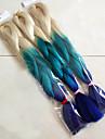 Bleu Box Tresses Jumbo Extensions de cheveux 24inch Kanekalon 3 Brin 80-100g/pcs gramme Braids Hair