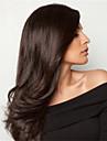 evawigs 10-26 tum lång rak peruker 100% människohår spets front peruker naturliga svart färg 130% densitet