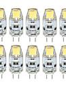 3W G4 LED-lampor med G-sockel T 1 COB 300-350 lm Varmvit / Kallvit / Naturlig vit Dekorativ / Vattentät DC 12 V 10 st