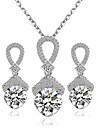 Bijuterii Coliere / Σκουλαρίκια Seturi de bijuterii de mireasă Nuntă / Petrecere 1set Dame Argint / Roșu Cadouri de nunta
