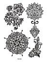 6 Tatueringsklistermärken Smyckeserier Blomserier Totemserier Ogiftig Mönster Vattentät Henna SpetsDam Vuxen Blixttatueringtillfälliga