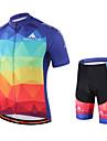 Miloto® Cykeltröja med Bib-shorts Herr Kort ärm CykelAndningsfunktion / Snabb tork / Fuktgenomtränglighet / YKK-dragkedja /