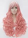 Perruques sans bonnet Perruques pour femmes Rose Perruques de Costume Perruques de Cosplay