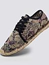 Bărbați Pantofi Flați Vară Espadrile Lenjerie Casual Toc Plat Dantelă Negru