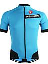 KEIYUEM® Cykeltröja Unisex Kort ärm CykelAndningsfunktion / Snabb tork / Ultraviolet Resistant / Dragkedja fram / Antistatisk /