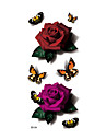 1 Tatueringsklistermärken Blomserier Ogiftig Mönster Vattentät 3DDam Vuxen Blixttatuering tillfälliga tatueringar