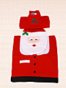 3st nya året jul jultomten fiskögon toalettsitsen täcka tanklocket och matta badrum inomhus inredning