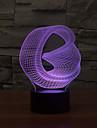 abstrait tactile gradation 3d conduit de lumiere de nuit lampe atmosphere decoration 7colorful eclairage nouveaute lumiere de Noel
