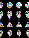 10pcs nail art luxe sept iridescence couleur alien ab diamant 16 optionnel style
