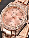 pentru Doamne Ceas Elegant Ceas La Modă Ceas de Mână Simulat Diamant Ceas Quartz Calendar imitație de diamant Oțel inoxidabil Bandă Charm
