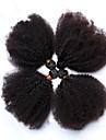 Human Hår vävar Mongoliskt hår Sexigt Lockigt 12 månader 4 delar hår väver