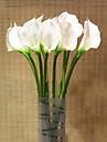 1 Une succursale Gel de silice Polyurethane Calla Lily Fleur de Table Fleurs artificielles 68cm