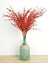 1 1 Une succursale Polyester / Plastique Autres Fleur de Table Fleurs artificielles 29.1inch/74cm