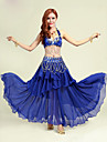 Belly Dance Outfits Women\'s Performance Polyester Sequins 2 Pieces Belly Dance Sleeveless