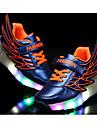 Flickor Sneakers Sommar Rullskridskosko Tända upp Skor PU Fritid Platt klack LED Svart Orange Mörkröd Marinblå Annat