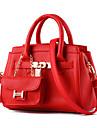 Femme Polyurethane Formel / Decontracte / Exterieur / Bureau & Travail / Shopping Sac a Bandouliere / Cabas Vert / Rouge / Gris / Noir