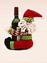 1st jul rand jultomten vinflaska handdukshållare bordsdekoration hem middag partitillförsel