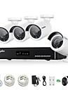 sannce® nya 4ch CCTV NVR systemet poe 1080p videoutgång vattentät IP-kamera med 1TB