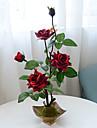1 Une succursale Polyester Plastique Roses Fleur de Table Fleurs artificielles 48(18.9\'\')