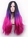 les nouveaux points noirs cos longue perruque bouclee dans les cheveux violet gradient perruques 26 pouces