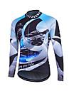 Fastcute® Maillot de Cyclisme Femme Homme Enfant Unisexe Manches longues VeloRespirable Sechage rapide Zip frontal Zipper YKK Bandes