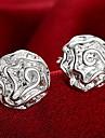 Sexy La modă Personalizat Plastic Flower Shape Rose Argintiu Bijuterii Pentru Nuntă Petrecere Zilnic Casual 1 pereche