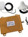 CDMA / DCS-850MHz 1800MHz tvåbandstelefon signal booster repeater förstärkare antenn kit guld