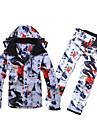 Tenue de Ski Pantalon/Surpantalon Anorak pour Ski/snowboard Ensemble de Vetements/Tenus Homme Tenue d\'Hiver Coton Polyester Architecture