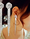 Earring Drop Earrings Jewelry Women Daily / Casual Copper 2pcs Silver