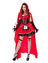 Costumes de Cosplay / Costume de Soiree Princesse / Conte de Fee Fete / Celebration Deguisement Halloween Rouge MosaiqueRobe / Plus