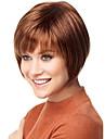couleur brun court perruques droites capless perruques synthetiques pour les femmes